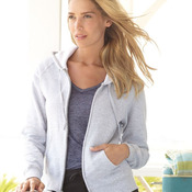 Ladies' Full-Zip ComfortBlend® EcoSmart® Hooded Sweatshirt