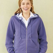 Garment-Dyed Women's Full-Zip Hooded Sweatshirt
