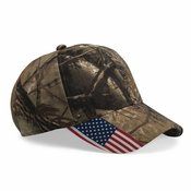 Camo Cap with Flag Visor